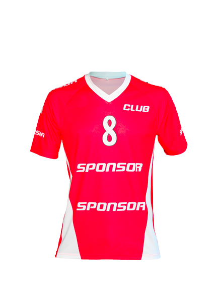 SS JERSEY HANDBALL SIDE INSERTS MEN V-COLLAR